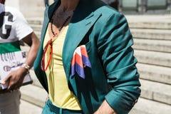 Sonderkommando eines modernen Mannes Milan Men-` s an der Mode-Woche Stockfoto
