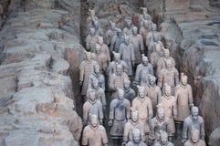 Sonderkommando eines Ranges Terrakotta-Krieger nahe der Stadt von Xian in China Stockbilder