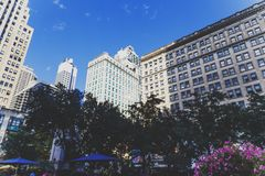Sonderkommando von Herald Square in Midtown Manhattan Lizenzfreies Stockfoto
