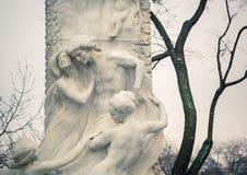 Sonderkommando von Johann Strauss Statue in Wien Lizenzfreies Stockbild