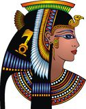 Sonderkommando von Kleopatra-Kopf stock abbildung
