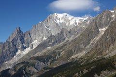 Sonderkommando von Mont Blanc-Gebirgsmassiv lizenzfreie stockbilder