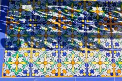 Sonderkommando von Plaza de Espana in Sevilla, Spanien Stockbilder