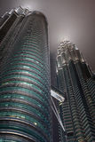 Sonderkommandoansicht der Petronas-Kontrolltürme Stockfotos