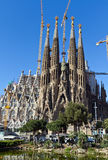 Sonderkommandofassade Sagrada Familia Barcelona Spanien Stockfotografie