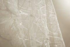 Sonderkommandos der Braut kleiden Gewebe und schönes Stickerei weddi Stockfotos
