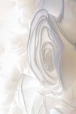 Sonderkommandos der Braut kleiden Gewebe und schönes Stickerei weddi Stockfotografie