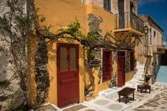 Sonderkommandos von Stadtbild auf Insel von Kea, die Kykladen, Griechenland lizenzfreies stockfoto