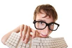 Sonderling mit Tastatur Lizenzfreies Stockbild