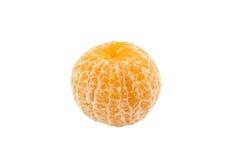 Sondern Sie lokalisierten weißen Hintergrund der Schale Orange aus Lizenzfreie Stockfotografie