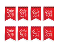 Sonderverkaufband 20-80 Prozent Design für Fahne oder Plakat Verkauf vektor abbildung