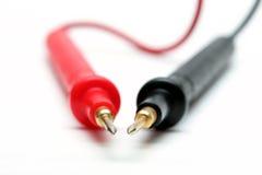 Sondes électroniques de multimètre Photographie stock libre de droits