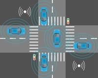 Sondes intelligentes de voiture illustration stock