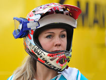 Sondra Williamson- Mountain biker - Enduro racer Royalty Free Stock Photography