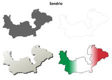 Sondrio blank detailed outline map set. Sondrio province blank detailed outline map set Stock Photos