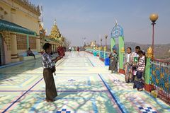Sone Oo Pone Nya Shin Pagoda, Myanmar Royalty Free Stock Photos