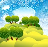 słoneczna krajobrazowa natura Obraz Royalty Free