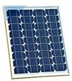 słoneczny odosobniony panel Zdjęcie Stock