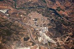 Soneja villaje aerial in Castellon Province Spain Stock Image
