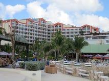 Sonesta Maho Beach Hotel Sint Maarten. Picture taken from terrace of Sonesta Maho Beach Hotel, Sint Maarten Royalty Free Stock Image