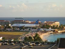 Sonesta Maho Beach und Flughafen, Sint Maarten Lizenzfreies Stockbild