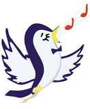Song. Illustration raster, a bird in flight sings a song on a white background Royalty Free Stock Photo