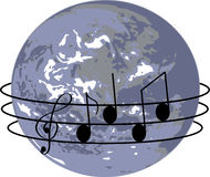 Song Around The World Royalty Free Stock Images