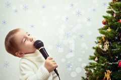 Song for Christmas trees Royalty Free Stock Photos