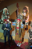 Song Creative Theatre. DNIPRO, UKRAINE - JUNE 23, 2016: American Indians performed by members of the Song Creative Theatre Stock Image