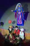Song Creative Theatre. DNIPRO, UKRAINE - JUNE 23, 2016: Georgia performed by unidentified children, ages 4-9 years old, and members of the Song Creative Theatre Royalty Free Stock Photography