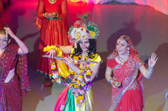 Song Creative Theatre. DNIPRO, UKRAINE - JUNE 23, 2016: India performed by members of the Song Creative Theatre Royalty Free Stock Image