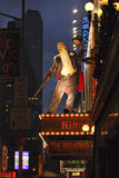 Song and dance, New York. An amazing outdoor advertisement, for the musical, 42nd street. In Manhattan stock photo