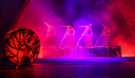 Song and dance performances in yunnan, china. Song and dance performances are taken in yunnan, china stock photo