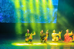 Song and dance performances in yunnan, china. Song and dance performances are taken in yunnan, china stock photos