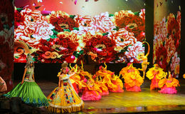 Song and dance performances in yunnan, china. Song and dance performances are taken in yunnan, china stock photography