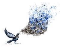 song för fågel s Arkivfoto