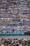 Song festival Riga. Latvia. Latvia's schoolchildren gather in Riga for week-long song, dance festival stock photo