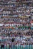 Song festival Riga. Latvia. Latvia's schoolchildren gather in Riga for week-long song, dance festival stock image