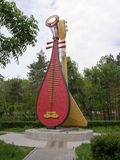 Song of Friendship - the balalaika and the pipa. Khabarovsk. Russia Royalty Free Stock Images