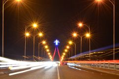 Song Han bridge by night Royalty Free Stock Image