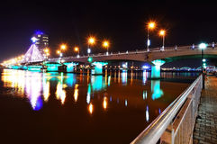 Song Han Bridge at night in Danang Royalty Free Stock Photography