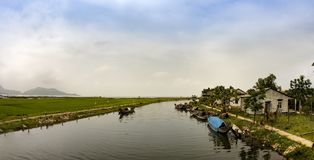 Song Huong River. Song huong in hue , Viet Nam Stock Image