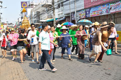 Song kan festival. In chiang mai Stock Photography
