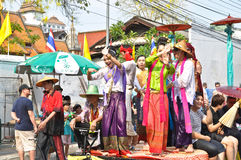 Song kan festival. In chiang mai Royalty Free Stock Images