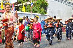 Song kan festival. In chiang mai Royalty Free Stock Photo