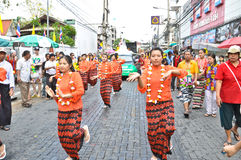 Song kan festival. In chiang mai Stock Photo