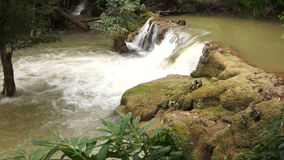 Song-Khalia waterfall in Khao Laem National Park, Thailand. stock footage