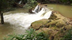 Song-Khalia waterfall in Khao Laem National Park, Thailand. stock footage