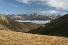 Song Kol Lake area, Kyrgyzstan. Trekking in the mountains in Kyrgyzstan, Song-Kol Lake area Royalty Free Stock Photo