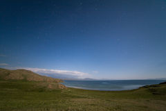 Song-Kul lake at night. Kyrgyzstan Royalty Free Stock Photo